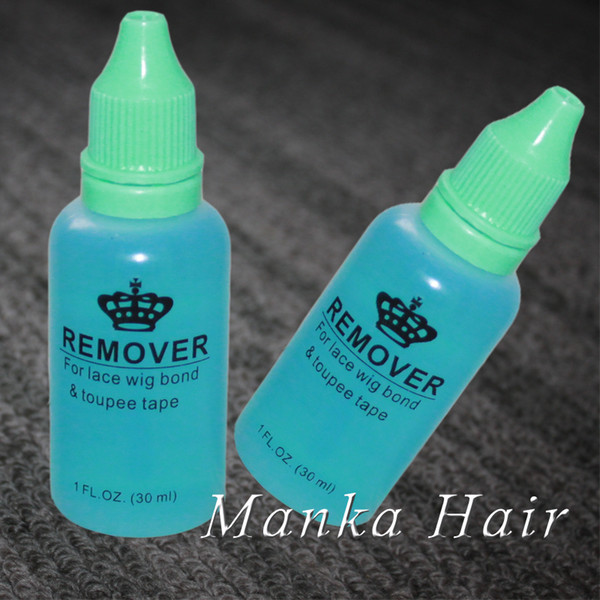 2 bottles Professional salon use 1OZ 30ml hair glue remover for lace wig toupee skin weft tape hair extension remover