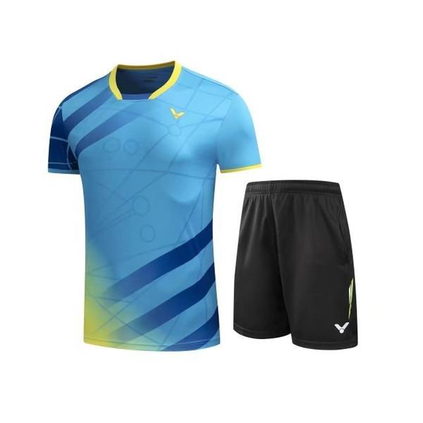 VICTOR Badminton t-shirt Suit,Athlete Shirts Clothes,Badminton Tennis shirt+short,Breathable Sport sportswear,VICTOR tracksuit M-4XL AUT79
