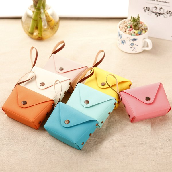 30piece Cute Candy Color Small Purse Coin Bag Key Bag Creative Macarons Hand Bag Wallet with Chain