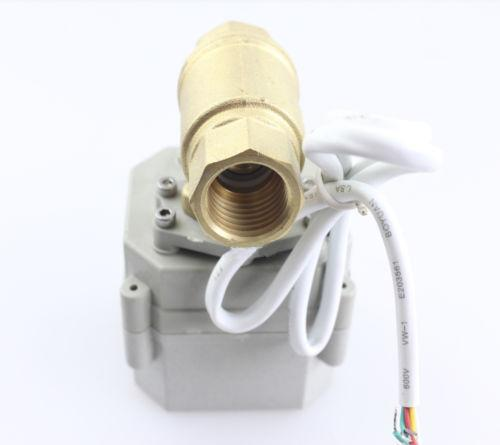"Wholesale price Free shipping YIDAYCR3-01/CR5-01 DC12V/24V 2 Way Brass Motorized Ball Valve, NPT/BSP Electrical Ball Valve 1-1/4"" DN32"