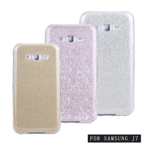 For Samsung Galaxy S7 Edge S6 Edge Plus On5 Note 5 J7 J3 TPU PC Hybrid Shining Bling Glitter Case Protective Hard Cover