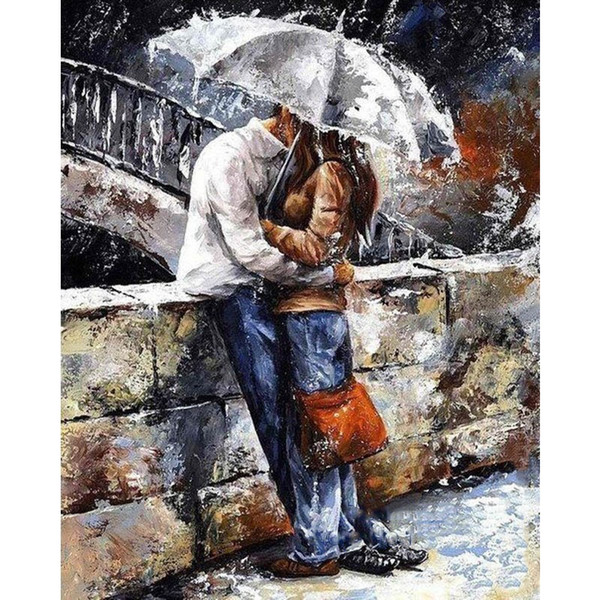 best selling 2017 Figure Painting Frameless Pictures Painting By Numbers DIY Canvas Oil Painting On Canvas Eirope DIY Wall Decor Paint