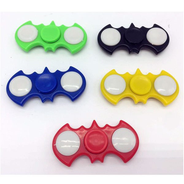 best selling batshape EDC Hand Spinner With LED Light Cool Fidget Toys Anti-stress Toy for Adult And Kid Light Hand Spinner Tri Fidget EDC Toy Focus ADHD
