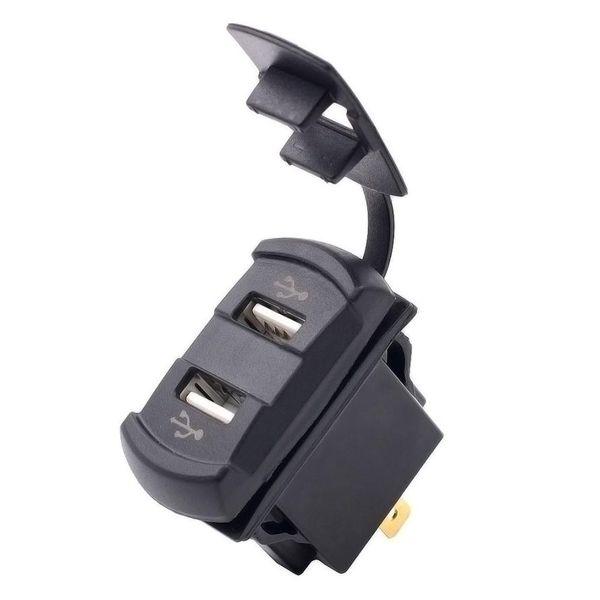 All'ingrosso- 2016 il nuovo 12V Dual Port USB Charger Voltage Voltmetro Interruttore a bilanciere Pannello Car Boat car styling Spedizione gratuita Vicky