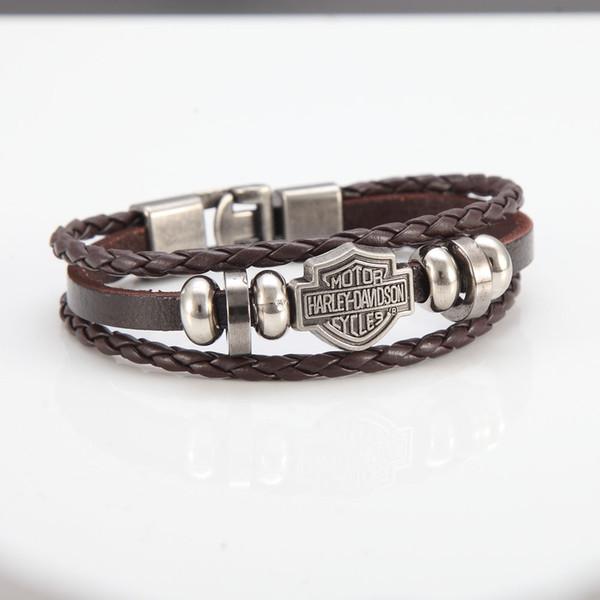 Европа и Америка мода мужская кожаный браслет персонализированные панк тенденция браслет