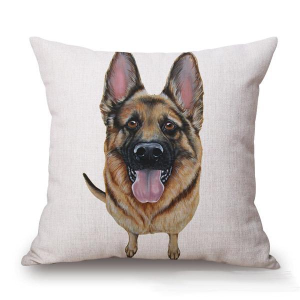 Hot vente lin taie d'oreiller couverture carrée housse de coussin 45cm taille standard thème du chien Golden Retriever Labrador croquis Style Home Seat Seat Utiliser