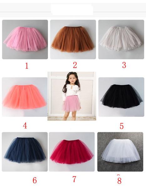 8 color INS baby short skirt Four layer grenadine skirtBaby Girls TUTU Skirts 2016 Summer Pettiskirt for Kids Children Short Party Skirt