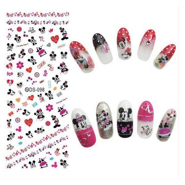 Nail Design Water Transfer Nails Art Sticker Elementi di amanti del fumetto Nail Wraps Sticker Consigli Manicura nail supplies Decal