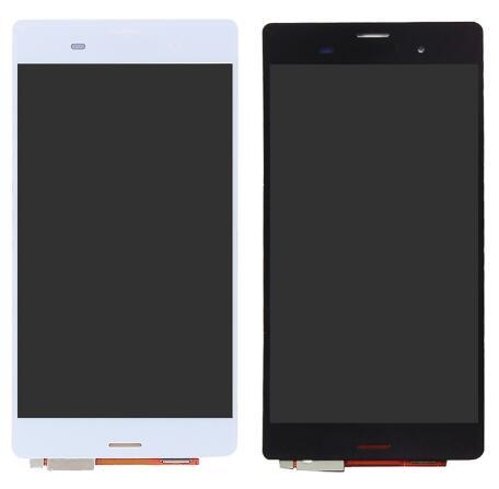 Display LCD bianco nero da 5,2 '' pollici per Sony Xperia Z3 L55t D6603 D6653 LCD Vetro digitale touch screen completo di montaggio