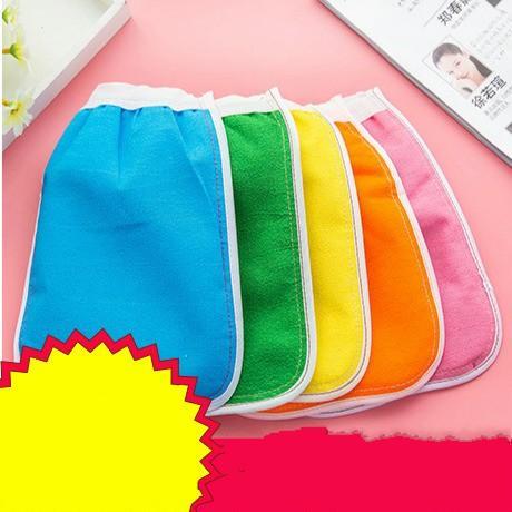 Remoción Mitt Bathe Towel Bath Brush Exfoliator Glove Guantes de baño de dos lados Magic Peeling Rub The Back Towels 0 55xd C R