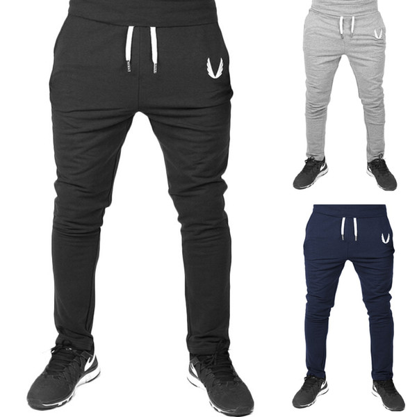 top popular Jogger Pants Sports Gym Pants Casual Elastic cotton Mens Fitness Workout skinny Sweatpants Trousers Jogger Pants Outdoor 2019