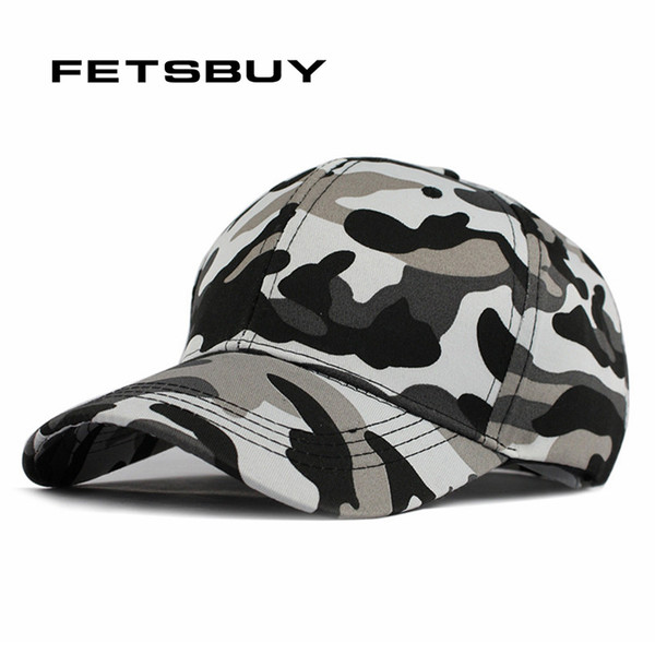 All'ingrosso-FETSBUY Mens Army Camo Cap Baseball Casquette Camouflage Cappelli per uomo Caccia Camouflage Cap Donne Blank Desert Hat