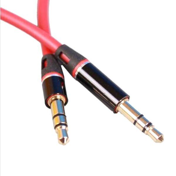 3.5mm Macho a Macho 1 m Jack de Audio Estéreo AUX Auxiliar Cable para iPhone para iPod MP3 Blanco Negro Rojo Comercio al por mayor 1000ps / lot