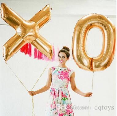 40 Inches Aluminum Film Balloon A - Z English Letters Wedding Balloon Birthday Party Decorations Confessions Balloon Huge Foil Balloons