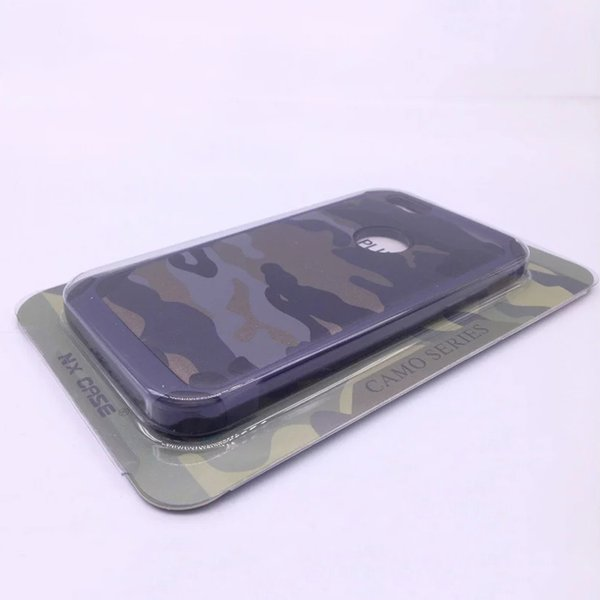 Camouflage PC + TPU Smart Phone Case Back Cover For Iphone 7 Samsung S8 Xiaomi Huawei LG Ipad Asus OPPO Vivo With retail packaging 100pcs