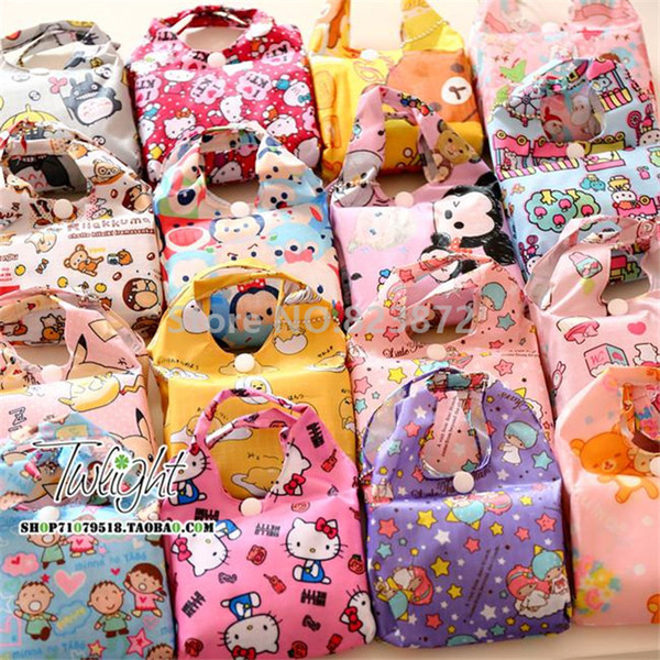 Wholesale Cute Cartoon Reusable Shopping Bag Foldable Folding ...