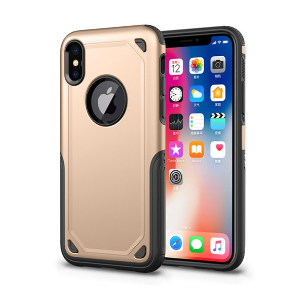 Hybrid Armor Cases For IPhone XR XS MAX 8 7 6SPlus Anti Shock 2 in 1 2018 Newest Arrival