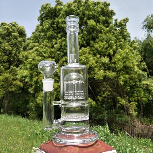 2017 Glass Water Smoking Pipe Percolator Pipes Honeycomb and Disk Bong With Arm Tree