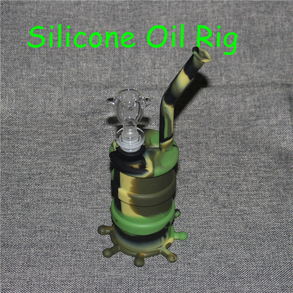 Hot Silicon Hookah Rigs Waterpipe Silicon Hookah Bongs Silicon Dab Rigs Cool Shape good quality and free shipping DHL