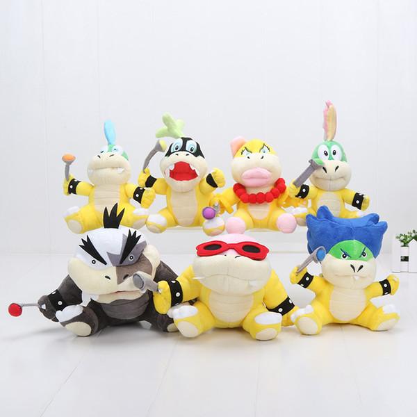 7pcs/lot Super Mario Koopalings Plush Toys Wendy LARRY IGGY Ludwig Roy Morton Lemmy Koopa Plush Toys Stuffed Doll