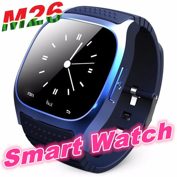 top popular M26 Bluetooth Sports Smart watch with Dial SMS Remind Music Player Pedometer for ios Android Smart phone 2019