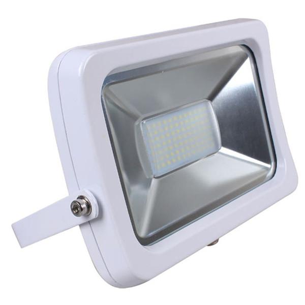 10W 20W 30W 50w führte dünnes wasserdichtes Flutlicht Weiß / Schwarzes Shell SMD und PFEILER LED Chipwandwandflutlichter