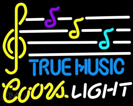 "Coors Light True Music Note Spectrum Neon Sign Commercial Custom Handmade Glass Concert Musical instruments Store Display Neon Signs 24""X20"""