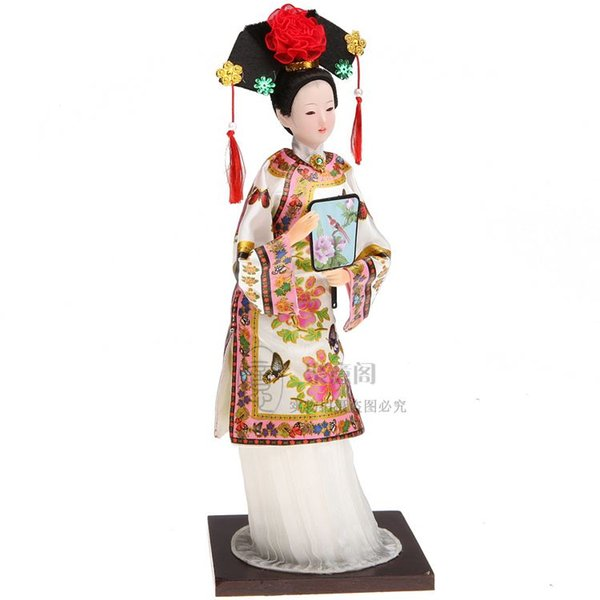 Tang Fang brand China silk doll ornaments Princess Qing people ladies Home Furnishing decorations