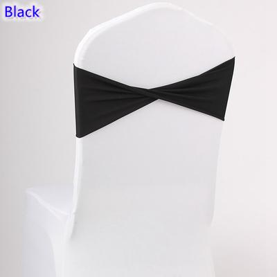 Black colour spandex sashes lycra sash for chair cover spandex bands bow tie For Wedding Decoration banquet design for sale
