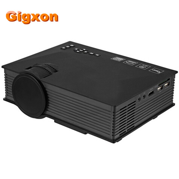 Wholesale- Gigxon - G46 Mini Portable Projector Support Full HD 1080P Red-Blue 3D Effect With WIFI Connection Projector With HDMI Cable