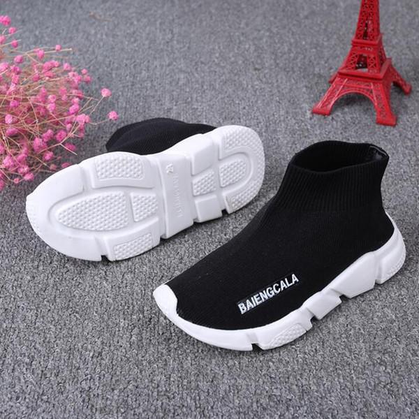 Boutique Caçoa as sapatilhas botas menino meninas de malha Sapatos esportivos meias calçados esportivos da criança crianças sapatos bebê correndo 1648