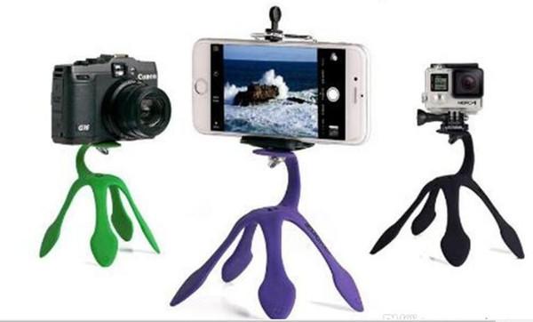 Mini Tripod Mount Portable Flexible Stand/Holder for iPhone huawei yi Sj4000 SJCAM c30 Sports Camera Accessories free shipping