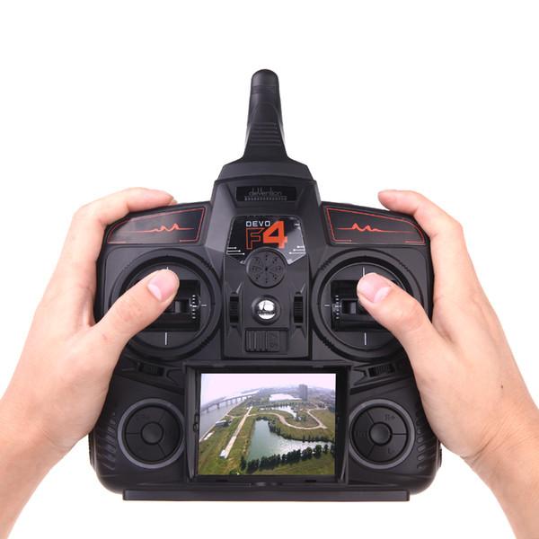 Walkera DEVO F4 2.4G 4CH FPV Verici LCD 5.8G Canlı Video Uzaktan Radyo Kontrol