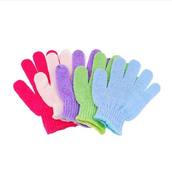 Exfoliating Bath Glove Five fingers Bath bathroom accessories nylon bath gloves Bathing supplies products DHL Free Shipping wa3223