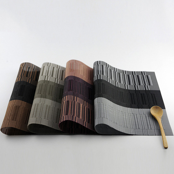 Placemat PVC para Esteira De Mesa Pad Bebida Vinho Coasters Bambu Placemats Mesa de Jantar Lugar Mat WA1432