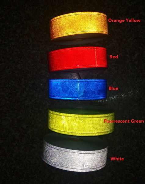 best selling 5cm*50m tiny star PVC reflective warning tape sewing for clothing