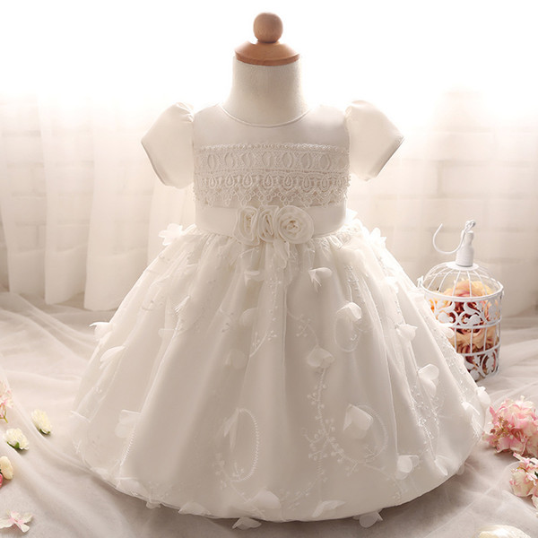 2018 New Baby 1 Year Old Baby Girls Party Dress Design Baby Girl