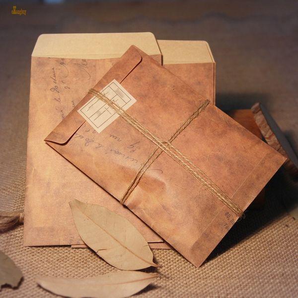 100pcs L * W: 16cmx11cm Vintage Kraft enveloppe multifonction bricolage / enveloppes cadeaux pour mariage / bureau Kraft enveloppe de mariage en papier