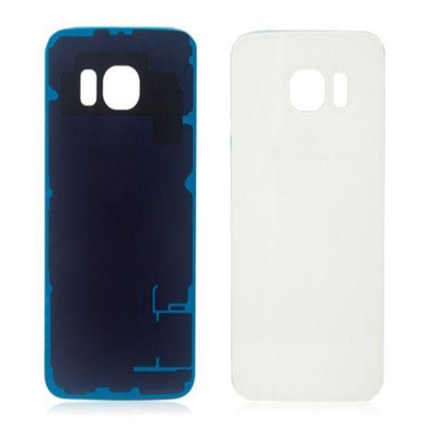 Coperchio dell'alloggiamento della batteria Coperchio di vetro della copertura per Samsung Galaxy S6 G9200 S6 Edge G9250 con adesivo DHL libero