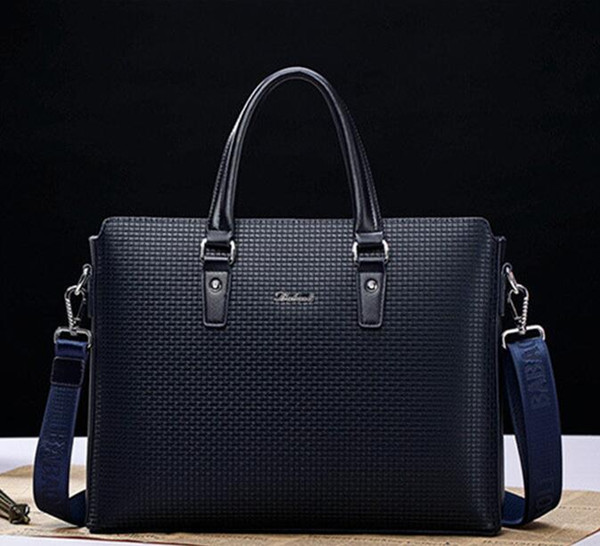 top popular wholesale brand bag leather handbag. British men men single shoulder bag boutique embossed embossed leather briefcase full of fashion busine 2020