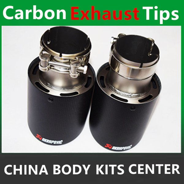 car styling Inlet 51mm to Outlet 89mm Akrapovic Carbon Exhaust Tip, Escape Akrapovic Muffler Tip
