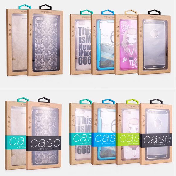 Colorful Personality Design Luxury PVC Window Packaging Retail Package Paper Box for Cell Phone Case Gift Pack Accessories DHL
