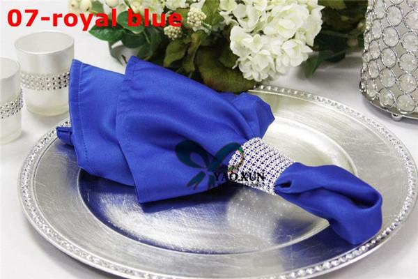 Royal Blue Color 100pcs Lot Satin Table Napkin For Wedding Decoration \ Cheap Price Table Cloth Napkins
