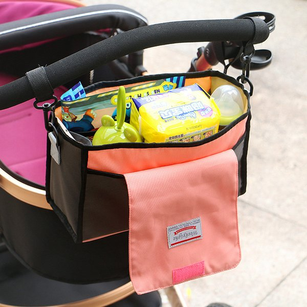 Bolsa de cochecito de bebé portátil cochecito Pañales Biberón bolsa Bolsa de almacenamiento Titular de bolsa multifunción