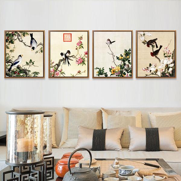 Moderne Chinesische Kunst Malerei Blumen Vögel Kalligraphie Und Malerei  Wohnzimmer Dekoration Restaurant Schlafzimmer Malerei (Kein