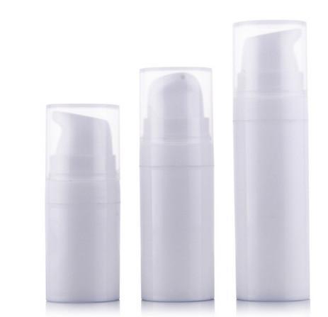Envío gratis 5 ml blanco mini Airless bomba loción botella, muestra y botella de prueba, Airless contenedor, embalaje cosmético