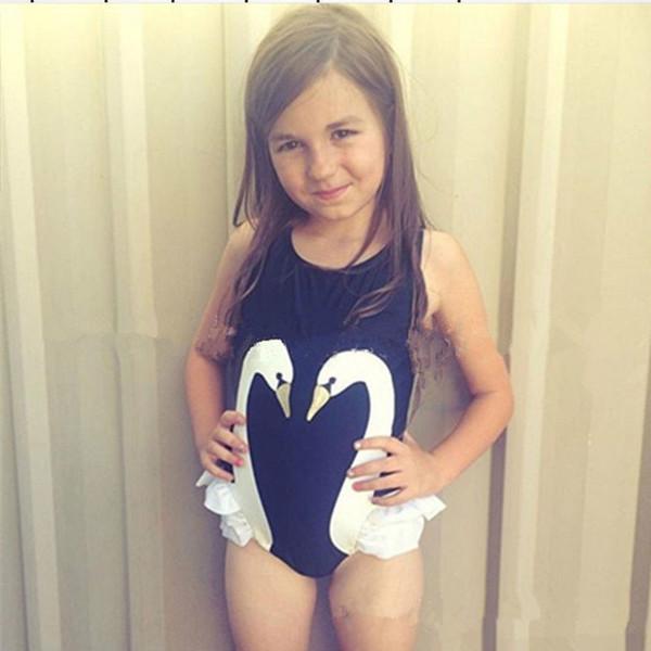 2017 New Frozen Baby Kids One Piece Swimwear Good Quality Black Swam Princess Girl Swimsuit Baby Bikini Cartoon Children Swim Wear 2T-8T
