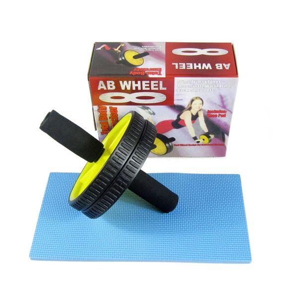 ab roller wheel for abdominal exercise home fitness equipment double wheel roller