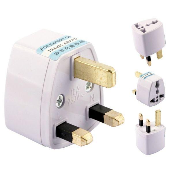 UK Plug com pino preto / branco