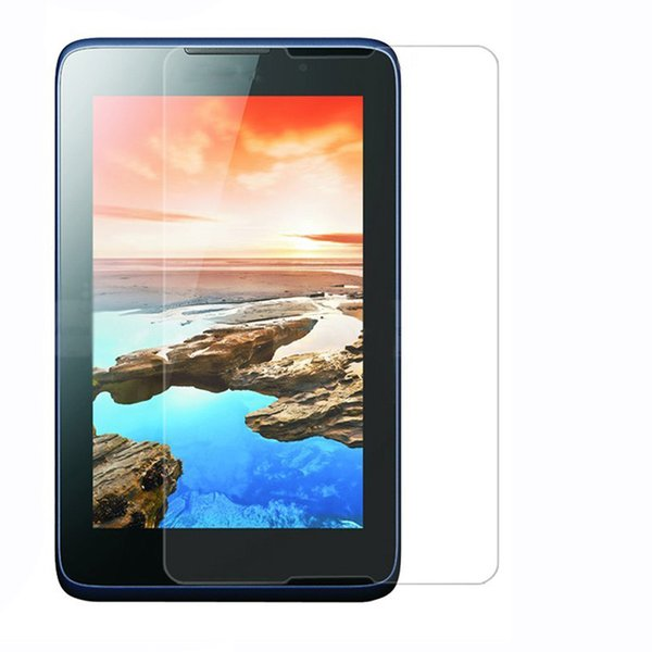 Wholesale- 5Pcs Clear LCD Screen Protector Protective Film for Lenovo A7-50 A3500 7.0 inch Tablet + Alcohol Cloth + Clean Cloth